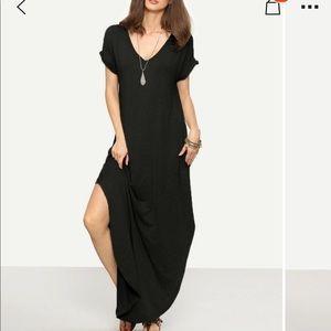 NWOT SHEIN roll Sleeve split hem dress size S ~$19